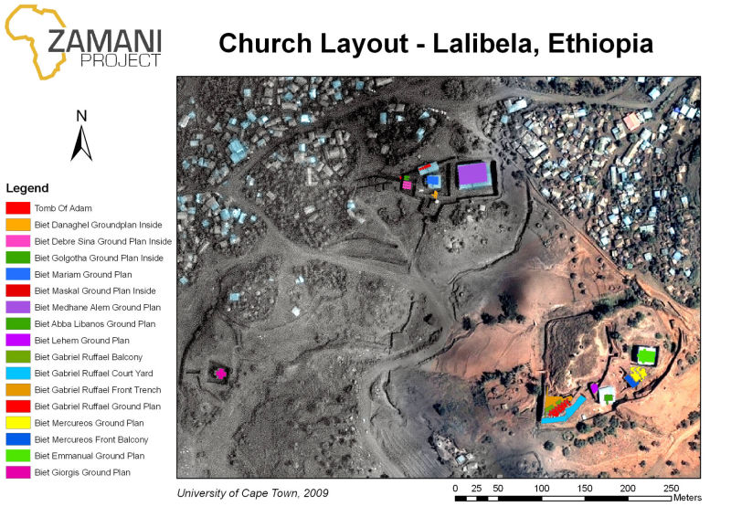 GIS Layout with satellite image of Bet Girgis